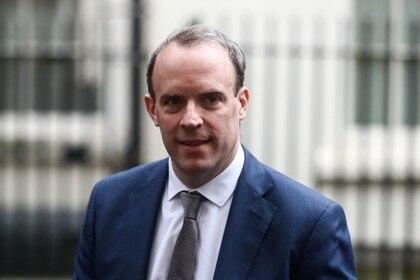 El secretario de Relaciones Exteriores británico, Dominic Raab. Foto: REUTERS/Simon Dawson