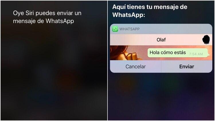 En el iPhone, esta tarea se hace a través de Siri. (Captura de pantalla)