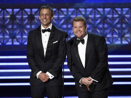 Seth Meyers y James Corden