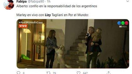 Algunas de las críticas que recibió Lizy Tagliani (Fotos: Twitter)