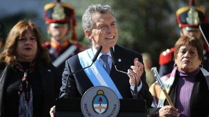 Mauricio Macri. El presidente aprovechó el discurso para dirigirse a los empresarios, la oposición, el sindicalismo y los gobernadores (Nicolás Nuñez)