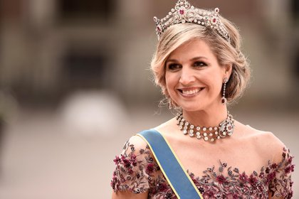 La reina Maxima durante una gala en el Royal Palace (Getty Images)