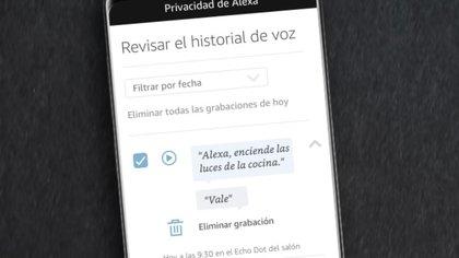 Amazon ofrece controles de privacidad para su asistente digital Alexa, a los que se pueden acceder desde el menú de configuración