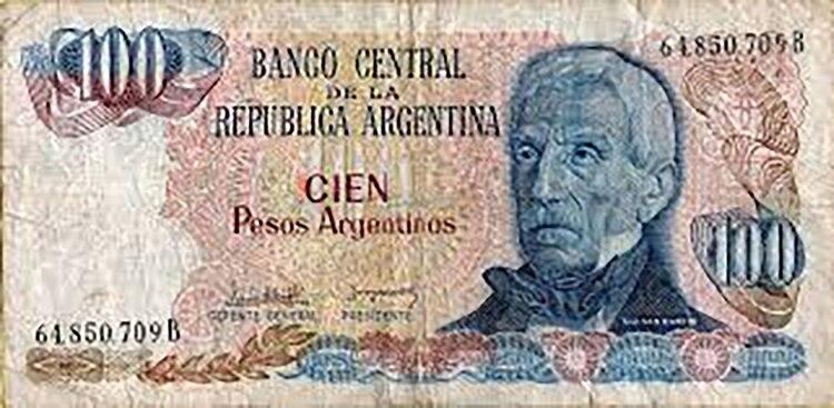 Con apenas dos años, el peso argentino fue el que tuvo el menor tiempo de vigencia