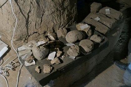 Imagen de descubrimientos arqueológicos en Luxor, Egipto, fotografía sin fecha. Misión Conjunta del Centro Zahi Hawass para la Egiptologia y Consejo Supremo de Antigüedades/Handout via REUTERS