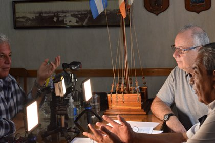 Los capitanes Leguizamón y Curiel con Infobae (Foto: Claudia Ferreyra)