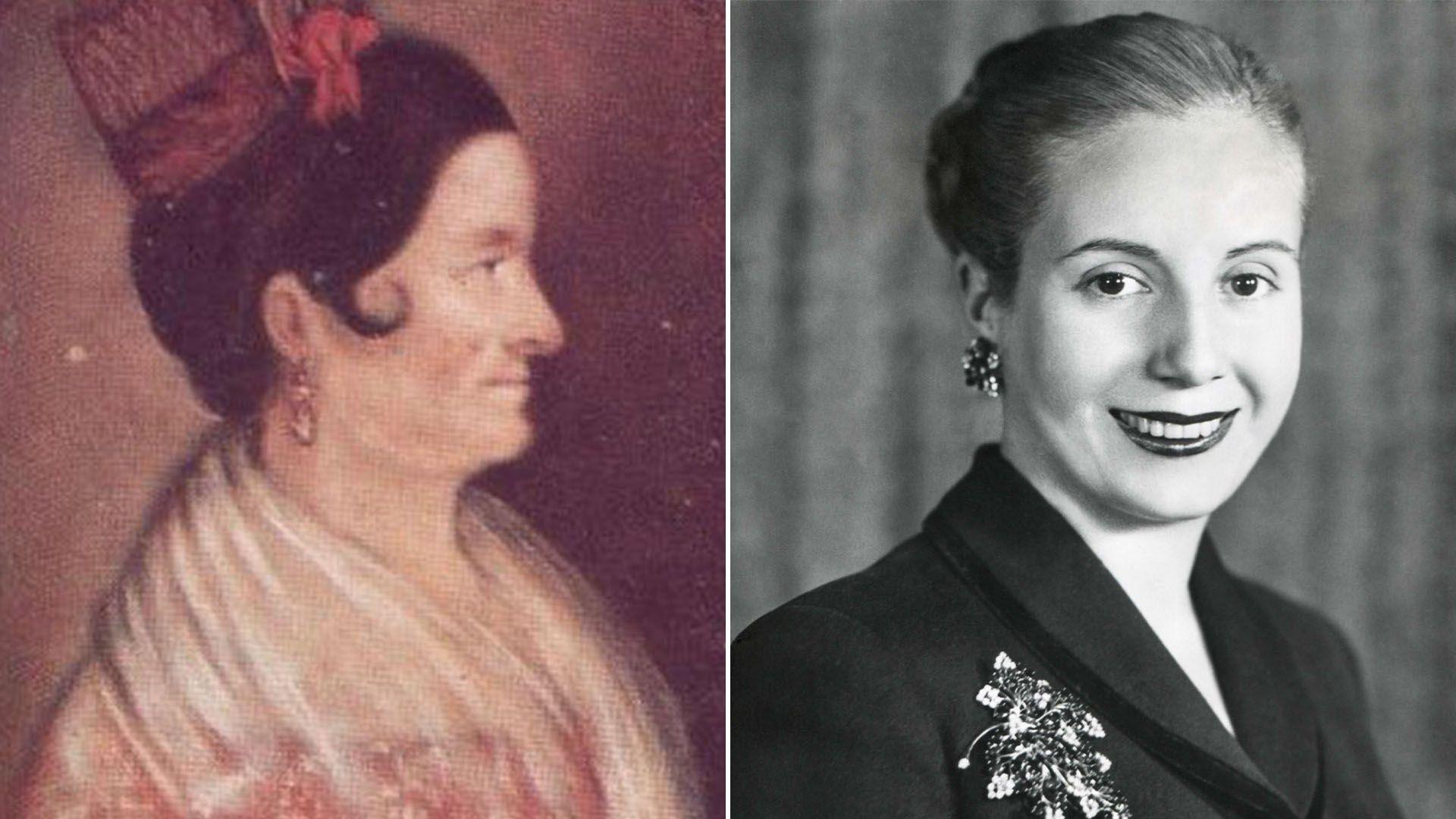 Encarnación Ezcurra y Eva Perón