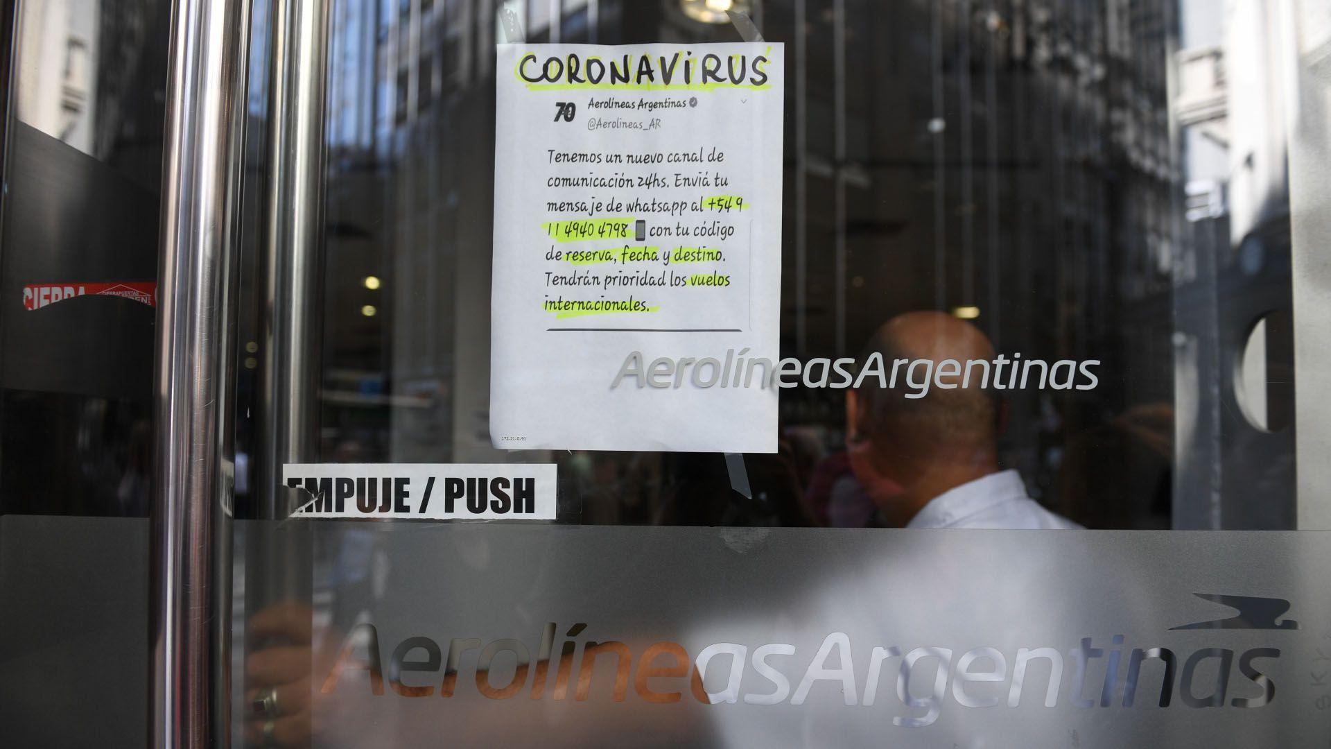 Aerolíneas dispuso 18 vuelos especiales que ya tiene programados Aerolíneas Argentinas, se sumarán también otros vuelos de compañías extranjeras (Maximiliano Luna)