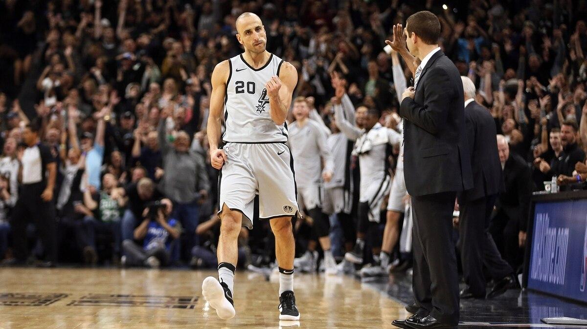 Las remeras en homenaje a Manu Ginóbili que usan los fanáticos de los Spurs