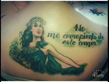 La imagen de Gilda, tatuada en la piel