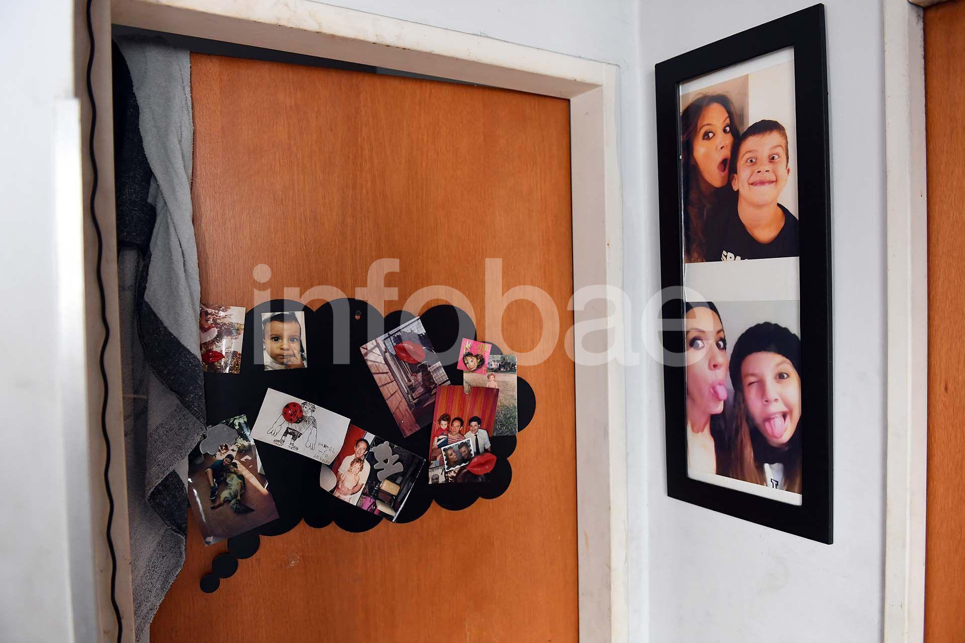 Imágenes de Natacha junto a sus hijos