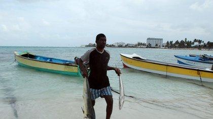Pescador de San Andrés - Archipiélago de Colombia. EFE