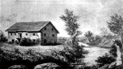 La tienda de Samuel Brannan en Sutter's Fort, donde los gambusinos podían conseguir todos los insumos para su tarea.