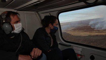 El ministro de Ambiente, Juan Cabandié, junto con la ministra de Ambiente y Cambio Climático de Santa Fe, Erika Gonnet