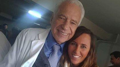 Alberto Cormillot y Estefanía Pasquini (Fotos: Instagram)
