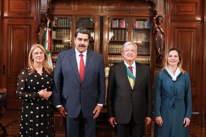 Nicolás Maduro asistió como invitado a la ceremonia en la que López Obrador asumió como presidente de México en diciembre de 2018 (Foto: Presidencia de México)