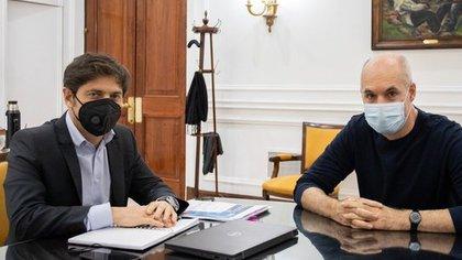 Axel Kicillof y Horacio Rodríguez Larreta en la gobernación de la Provincia de Buenos Aires