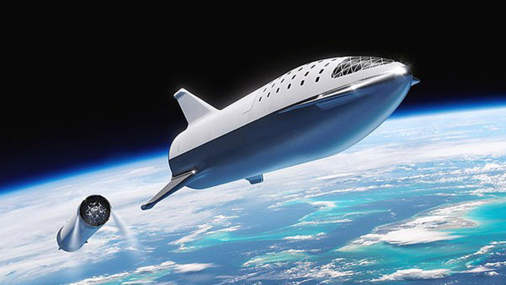El BFR de Space X será el cohete más potente jamás construido. Podrá llevar astronautas hasta la Luna y Marte