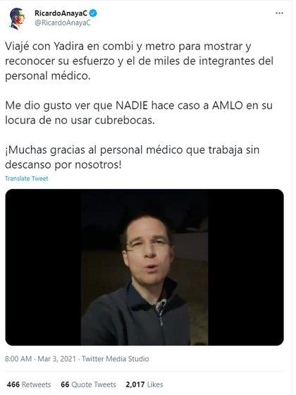 Como parte de su gira por la República Mexicana, Anaya ha publicado varios vídeos en los que ha asegurado que su objetivo es escuchar sobre los sueños y necesidades de los mexicanos (Foto: Twitter/ @RicardoAnayaC)