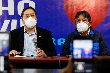 Los candidato del MAS, Luis Arce y David Choquehuanca (Reuters)