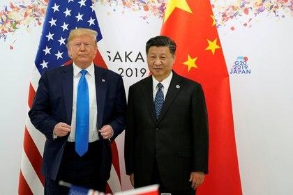 Donald Trump y Xi Jinping, en la cumbre del G20 de Osaka, en junio de 2019. (REUTERS)