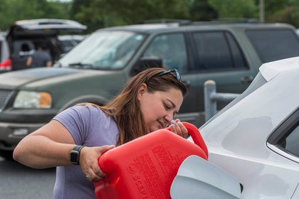 Más del 7% de las estaciones de servicio en Virginia, el 8% en Carolina del Norte y el 5% en Georgia se quedaron sin combustible el martes por la tarde (Foto: REUTERS/Jay Paul)