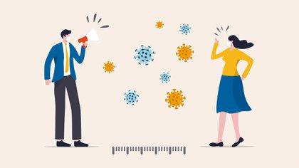 Recomiendan entre 1 y 2 metros de distancia entre persona y persona (Shutterstock)