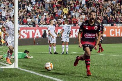 Rivero lleva siete goles anotados en México (Foto: Omar Martínez/ Cuartoscuro)