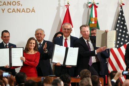 La cumbre tiene como pretexto la entrada en vigor del acuerdo comercial entre EEUU, México y Canadá (Foto: Mario Guzmán/ EFE)