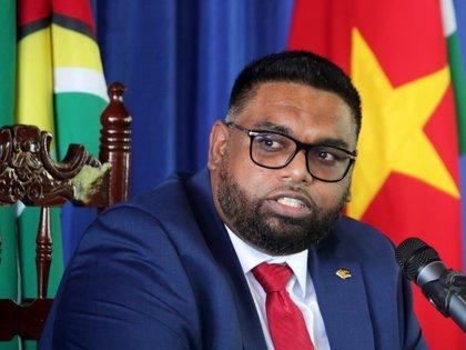 El presidente de Guyana, Irfaan Ali