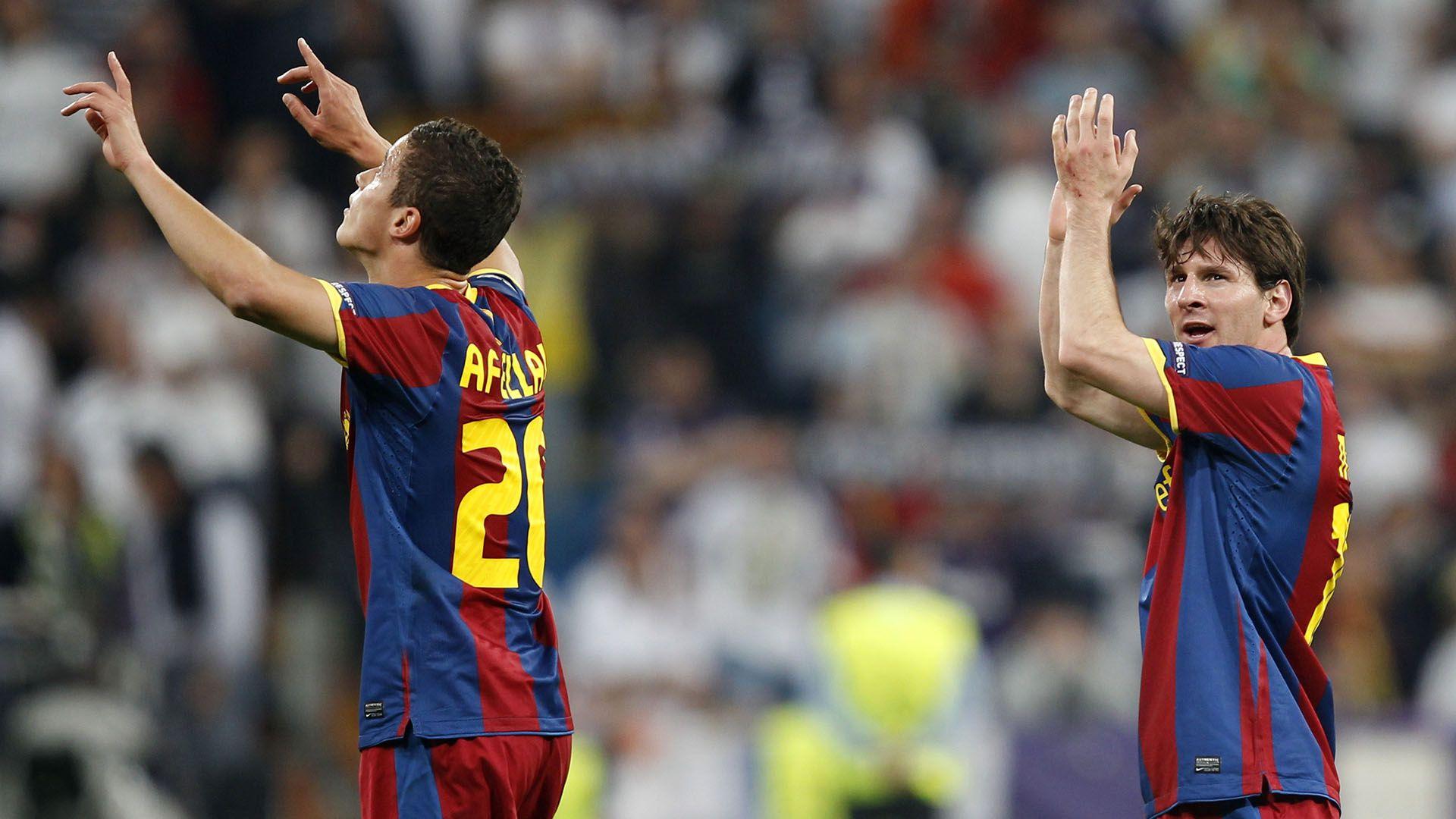 Ibrahim Afellay Barcelona Messi
