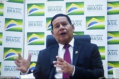 En la imagen el vicepresidente de Brasil, el general de la reserva Hamilton Mourao, EFE/ Marcelo Sayão /Archivo