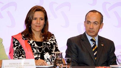 Margarita Zavala, junto a su esposo, el ex presidente Felipe Calderón (Getty Images)