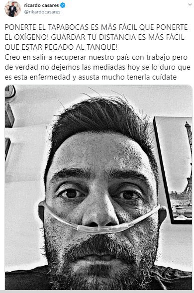 Ricardo Casares tanque oxígeno COVID