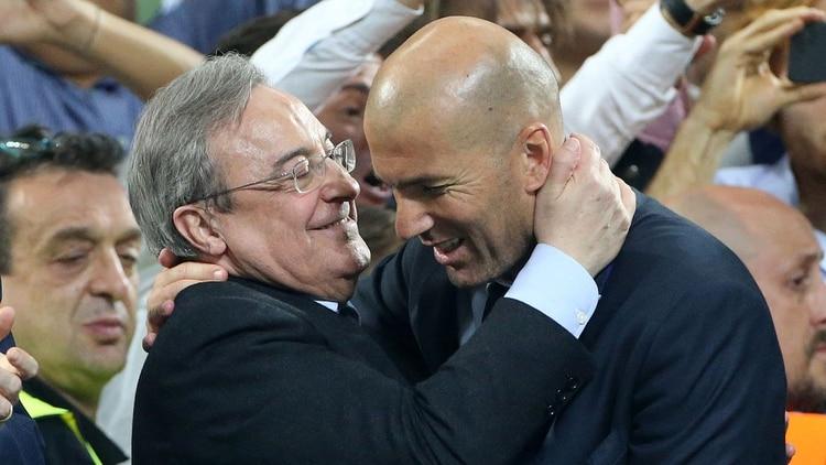 Florentino Pérez busca convencer a Zidane con varios fichajes de peso (Getty Images)