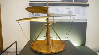 El helicóptero inventado por Leonardo Da Vinci