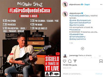 El anuncio de Alejandro Sanz