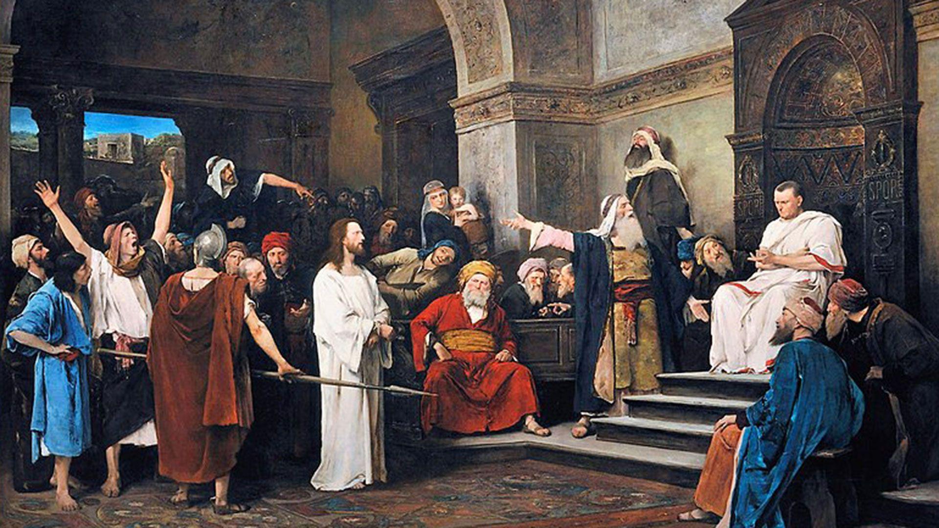 """""""Cristo ante Poncio Pilato"""", pintura del artista húngaro Mihály Munkácsy"""