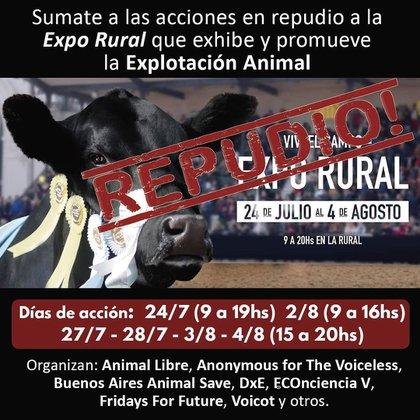 Una de las imágenes difundidas por la organización DXE Buenos Aires, cuatro días antes del incidente