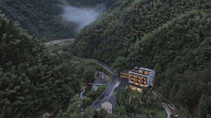 El Yule Mountain Resort había sido una granja antes de su transformación por la firma de diseño china Continuation Studio (Continuation Studio)