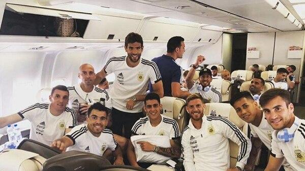 El plantel de Argentina ya está en Rusia (Instagram)