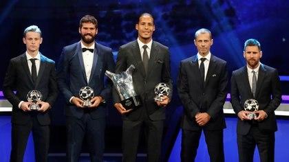 Frenkie De Jong, Alisson, Virgil van Dijky Lionel Messi fueron los ganadroes (REUTERS)