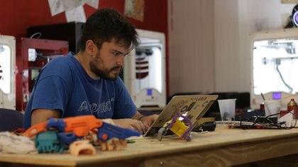 Gino Tubaro, el inventor argentino que deslumbró a Barack Obama. (Lihue Althabe)