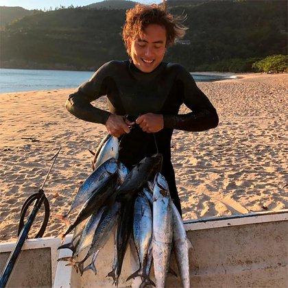 La pesca submarina era una de sus pasiones (@pedro_tanaka)