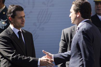 El ex presidente Peña Nieto nombró a Lozoya como director de Pemex en 2012 (Foto: Misael Valtierra/ Cuartoscuro)