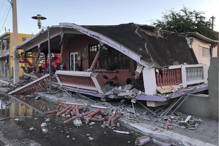Una casa destruida en Guanica, Puerto Rico (REUTERS/Ricardo Ortiz)