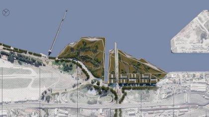 Render del proyecto del oficialismo para contruir edificios privados en tierras públicas
