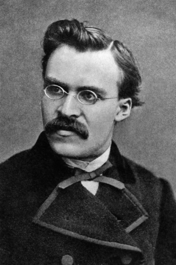Friedrich Nietzsche en 1869 (Foto Gebrüder Siebe)