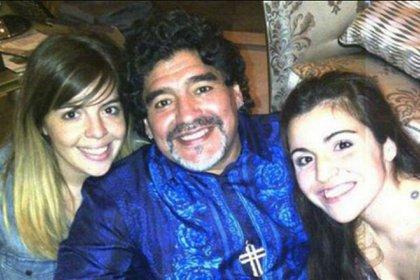 Dalma, Diego y Gianinna, en Dubai