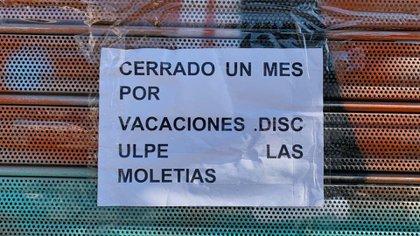 Los negocios permanecen cerrados en Madrid ( Foto: Facundo Pechervsky)